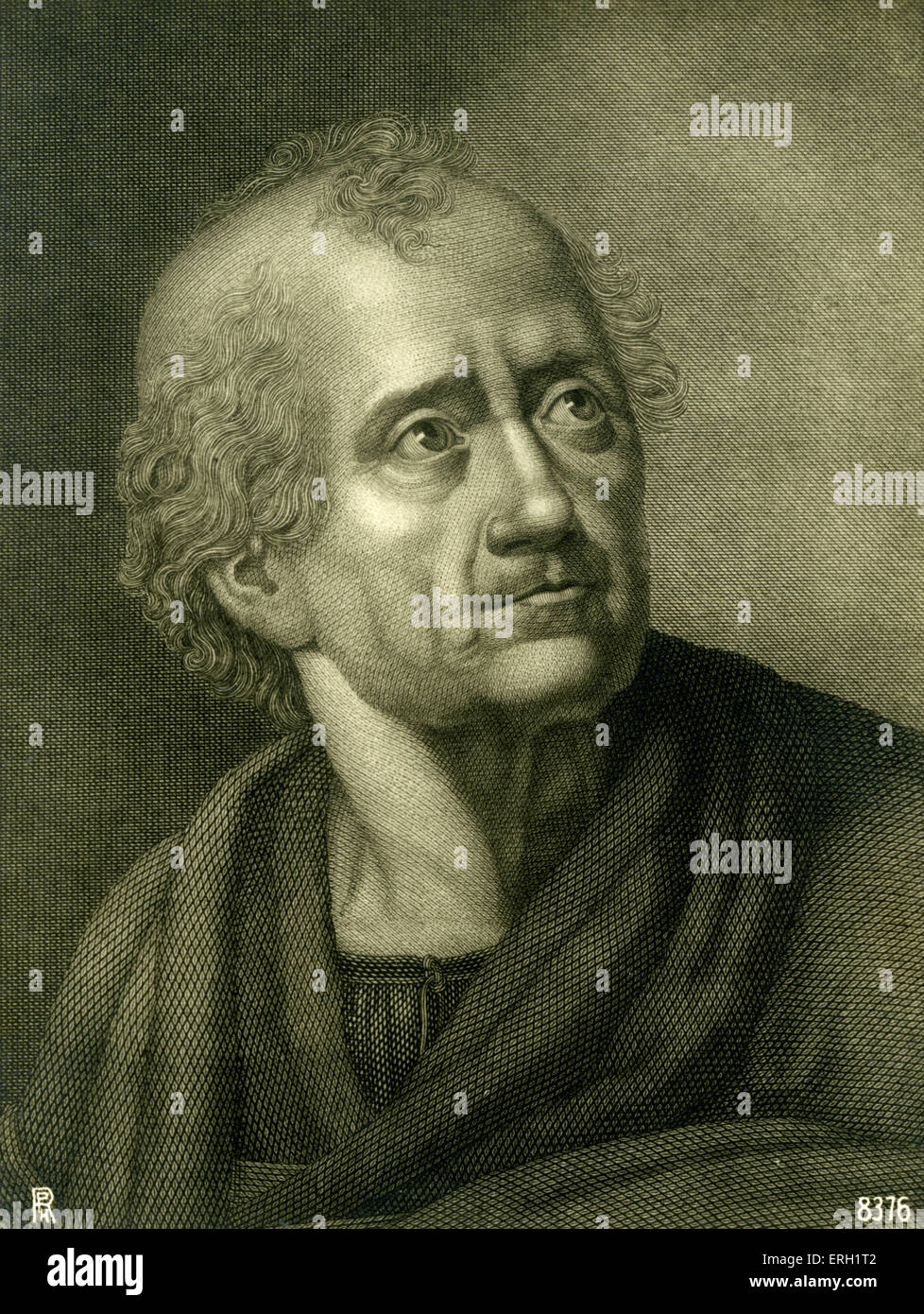 KLOPSTOCK, Friedrich German poet, 1724-1803 - wrote text with Mahler for M's Resurrection in 2nd symphony - Stock Image