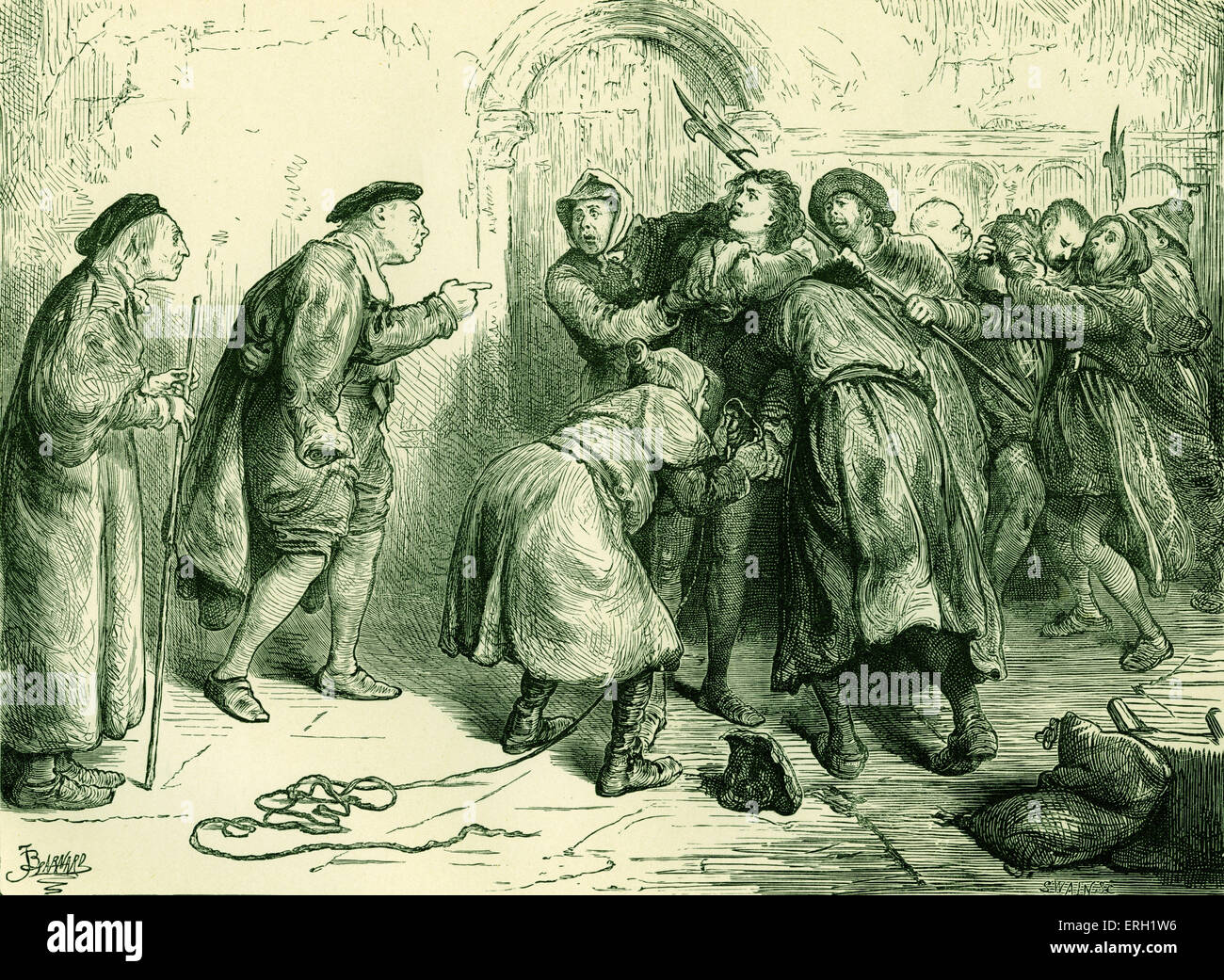 Much Ado About Nothing (Act IV Scene 2), play by William Shakespeare. Dogberry and the Watch. 'Dogberry: Dost - Stock Image