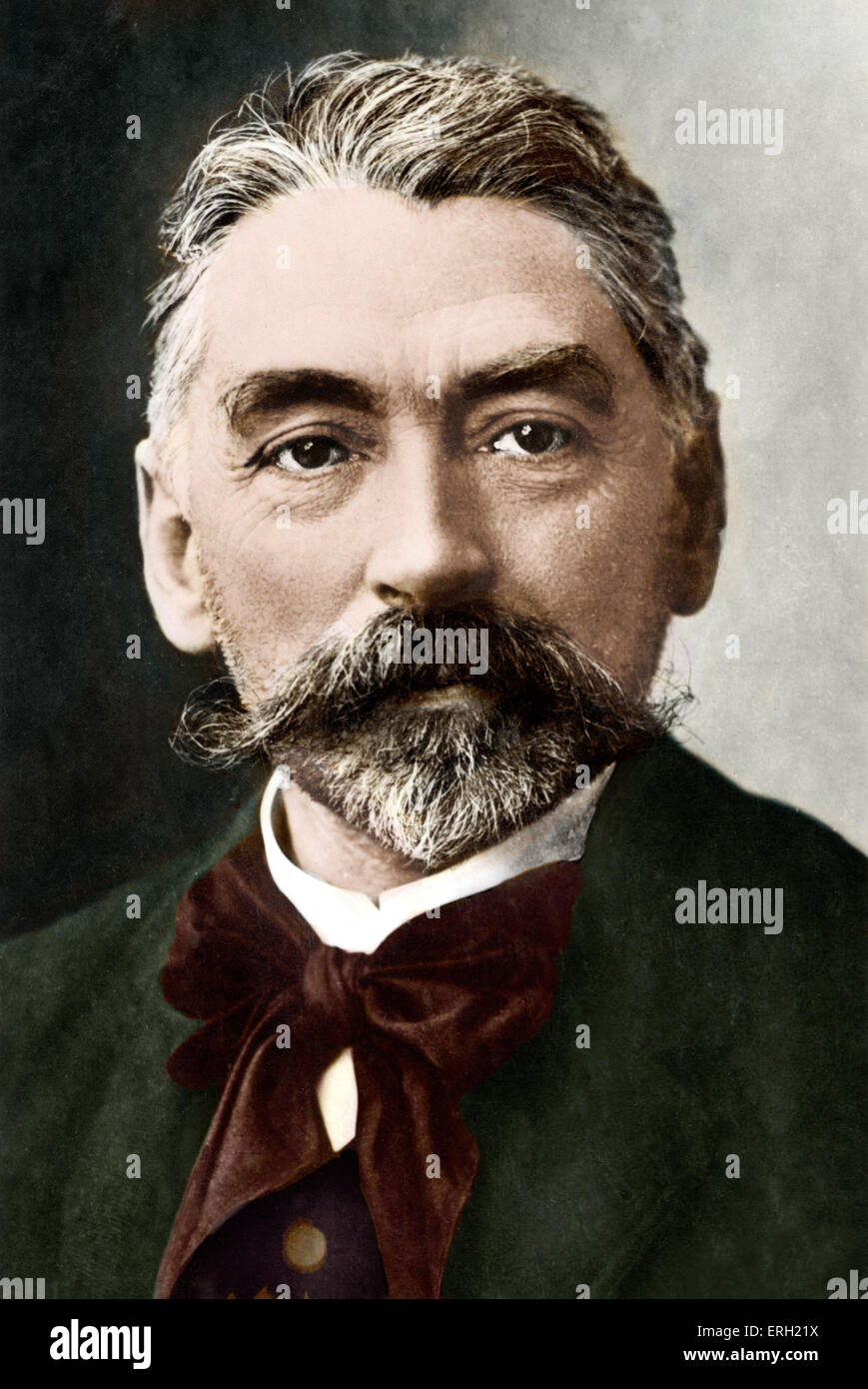Stéphane Mallarmé French poet,  1842-1898. A leading Symbolist. Colourised version. - Stock Image
