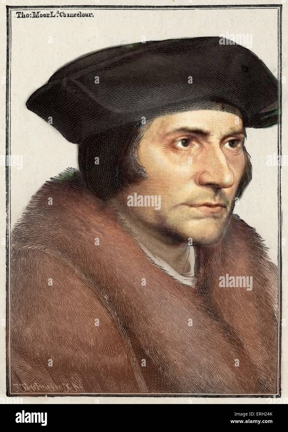 ANTIQUE HOLBEIN JUNIOR MINISTER SIR THOMAS MORE Painting Canvas art Prints