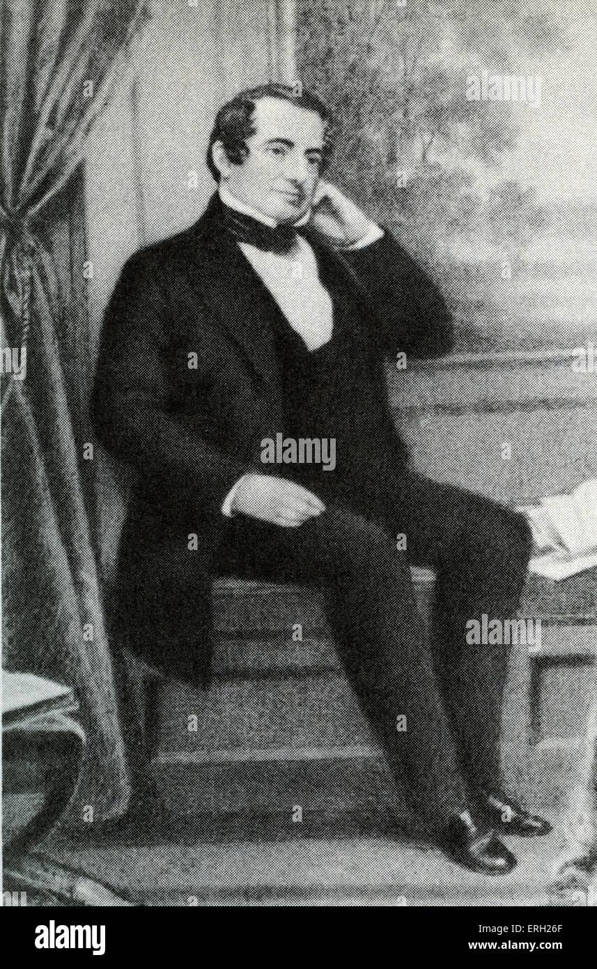 Washington Irving in Sunnyside. American author and historian: 3 April 1783 – 28 November 1859 - Stock Image
