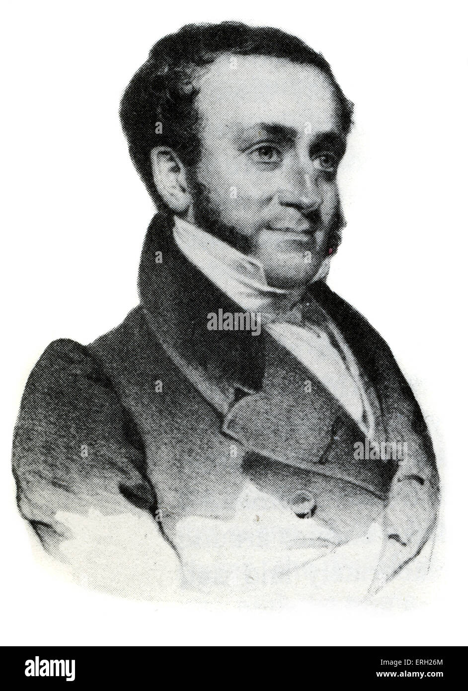 Fitz-Greene Halleck. Wrote 'Fanny, 1819 satricial poem about New York society. American poet: 8 July 1790-19 - Stock Image