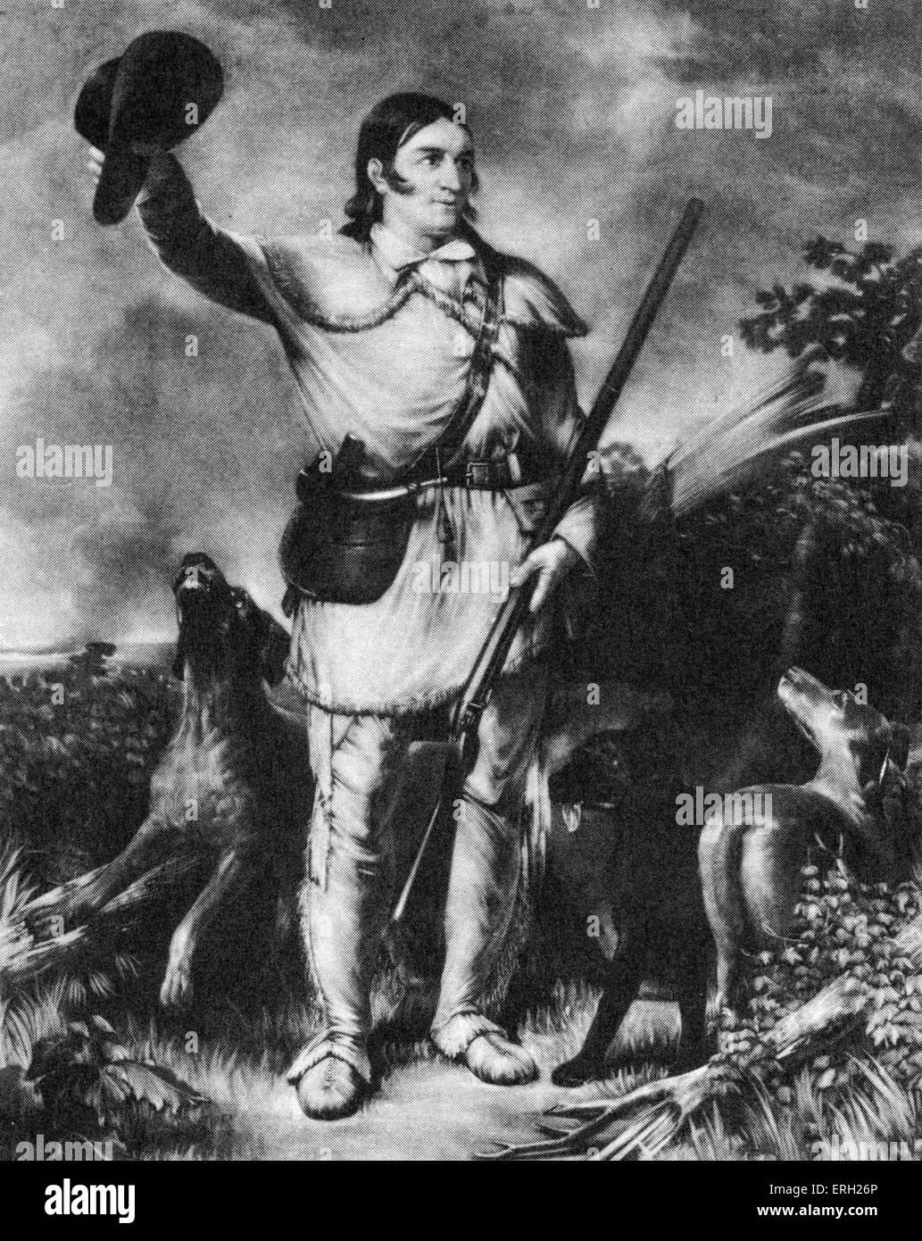 Davy Crocket. American folk hero: 17 August 1786- 6 March 1836. - Stock Image