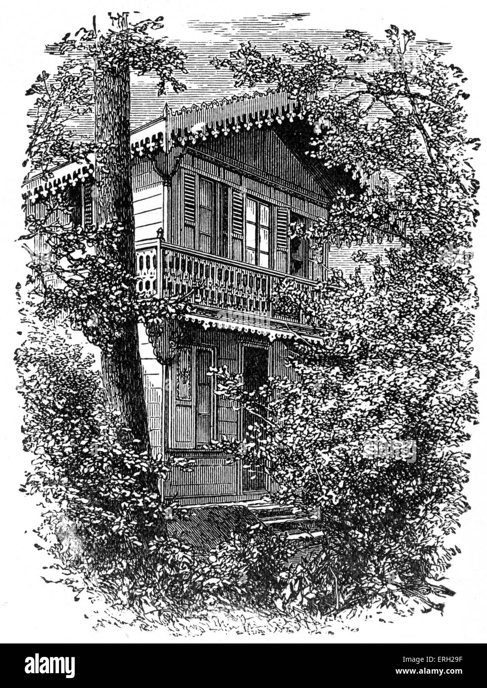Charles Dickens '  house at Gad's Hill,  UK.Home where the British novelist died. 7 February 1812 - 9 June - Stock Image