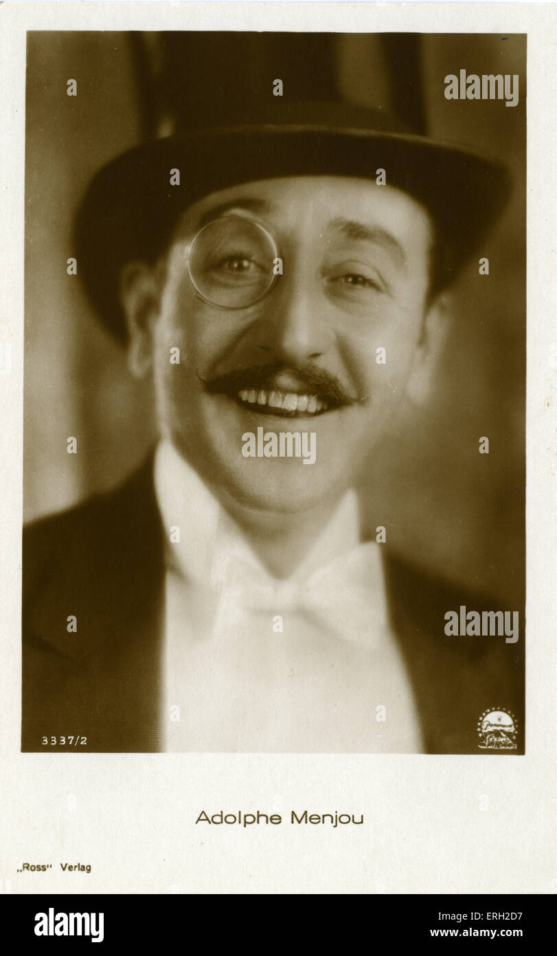 Adolphe Menjou - silent and sound film star. February 18, 1890 - October 29, 1963. Credit: Paramount / Ross Verlag - Stock Image