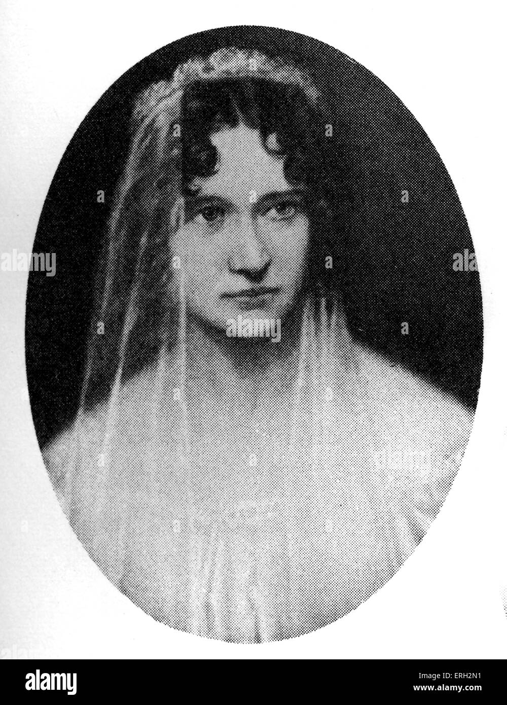 Sarah Helen Whitman (1803 - 1878), formerly engaged to Edgar Allan Poe. Inspired his poem 'to Helen'.EP: - Stock Image