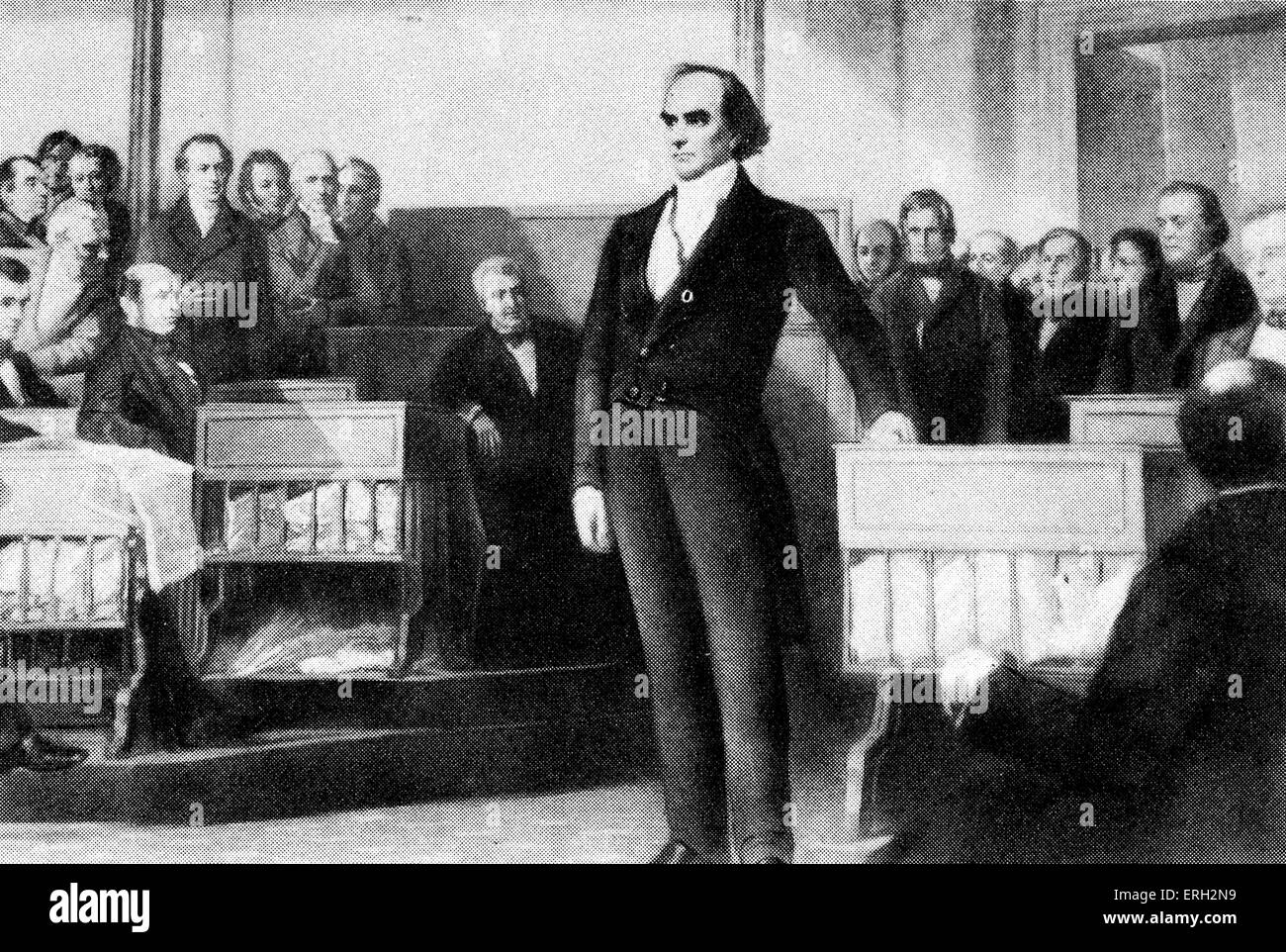 Daniel Webster, American politician. 18 January 1782 -  24 October 1852. - Stock Image