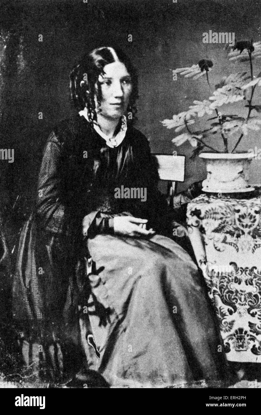 Harriet Beecher Stowe c. 1852, American author and abolitionist. 14 June 1811 – 1 July 1896. - Stock Image