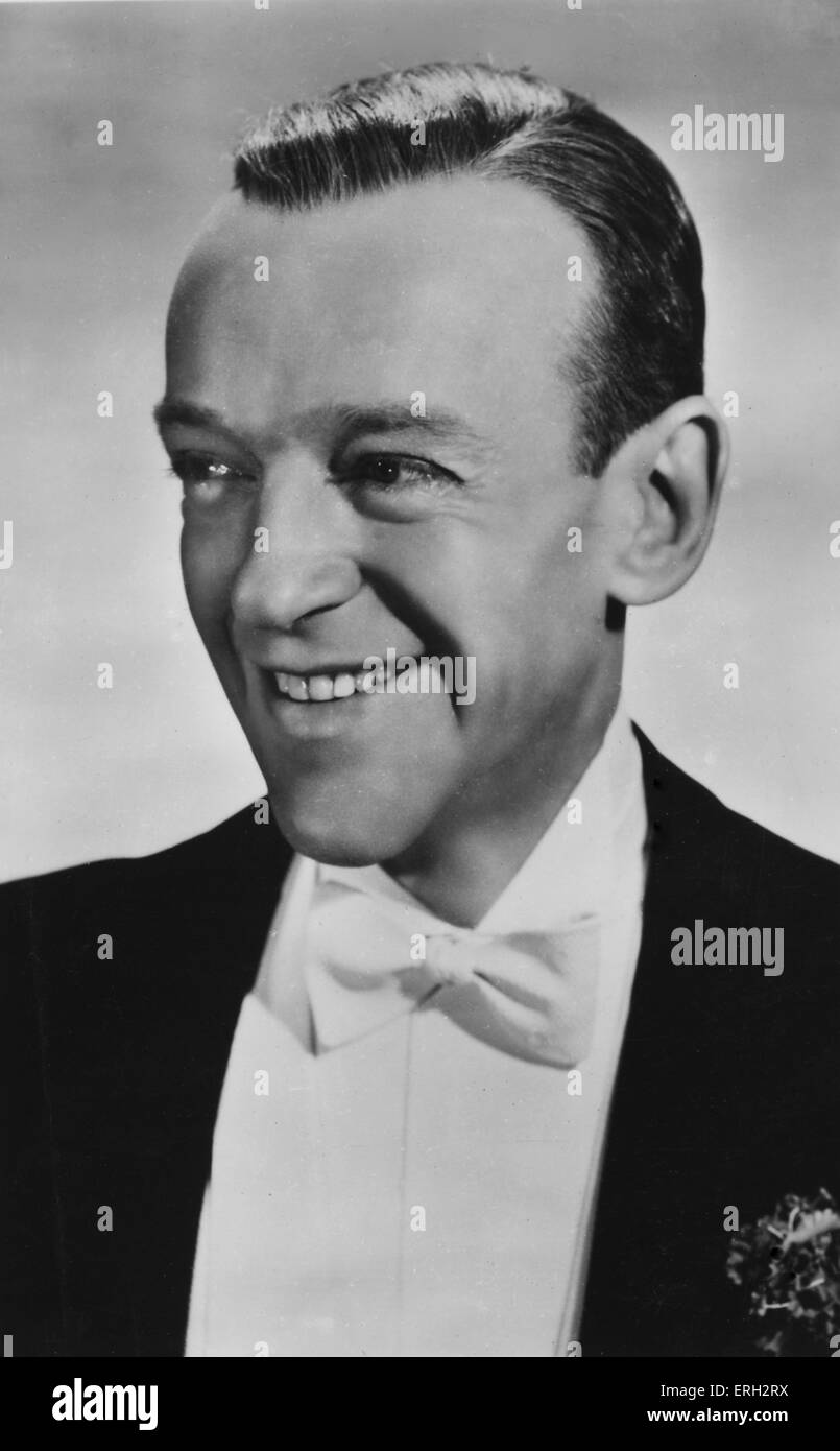 Fred Astaire, portrait. American Broadway stage dancer, choreographer, singer and actor, 10 May 1899 – 22 June 1987. - Stock Image