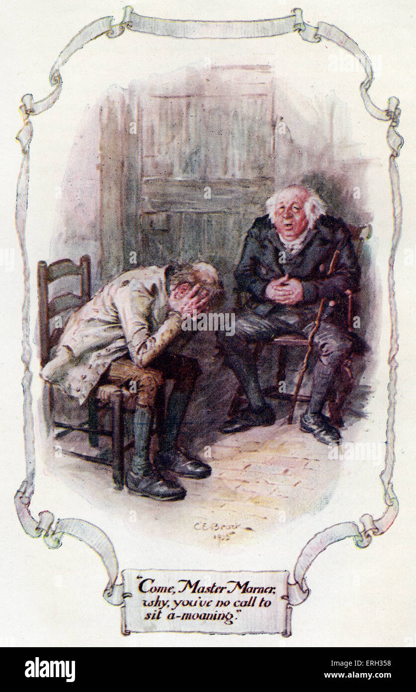 Silas Marner; the weaver of Raveloe by George Eliot (pen name of Mary Ann Evans) Published in 1861. Illustration - Stock Image