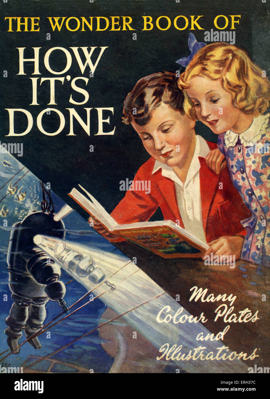 The Wonder Book of How It's Done. Children's reference book, published early 1950s. Front cover. - Stock Image