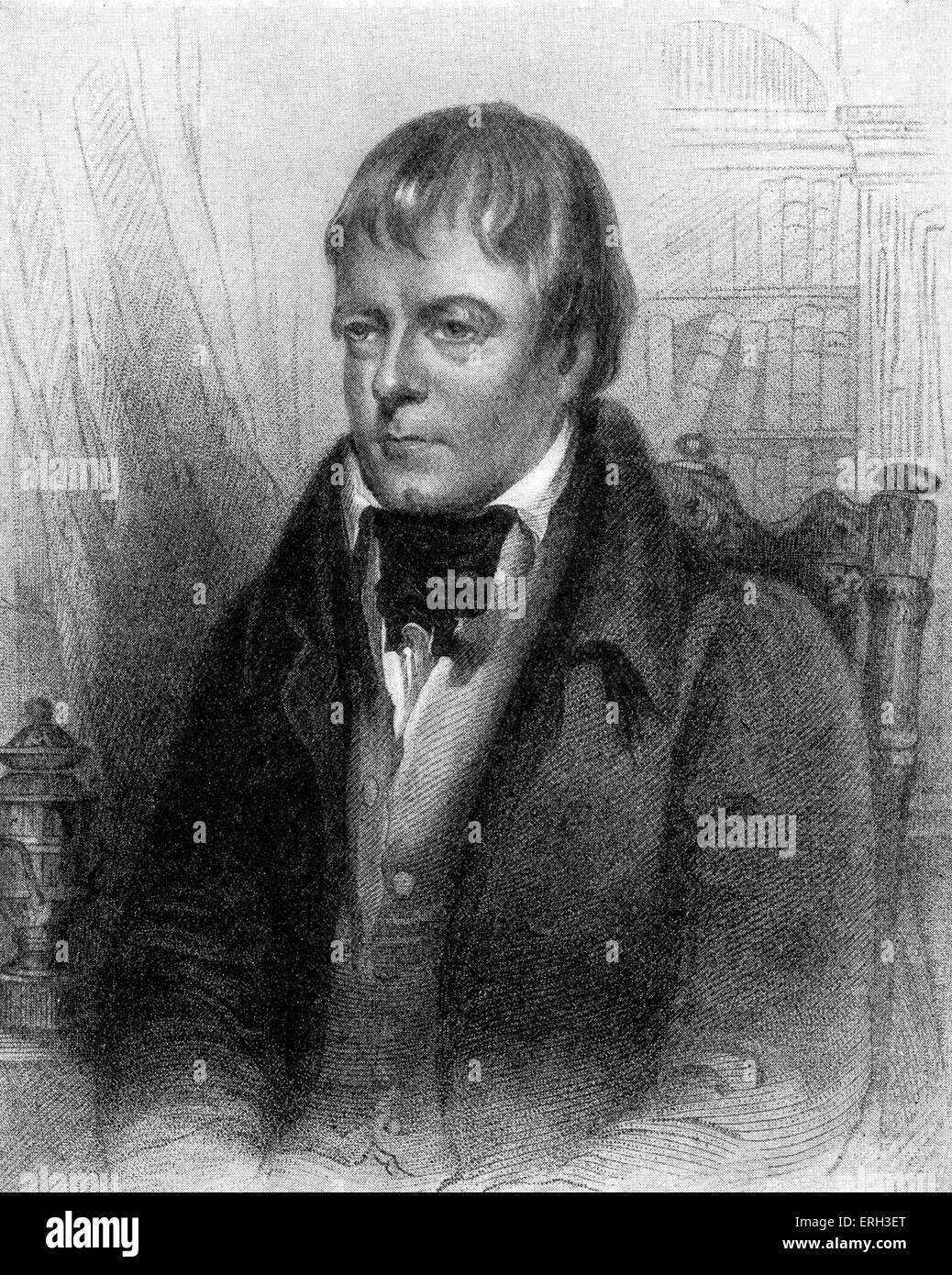 Sir Walter Scott - portrait of the Scottish poet and novelist (15 August 1771 – 21 September 1832) by Sir John Watson - Stock Image
