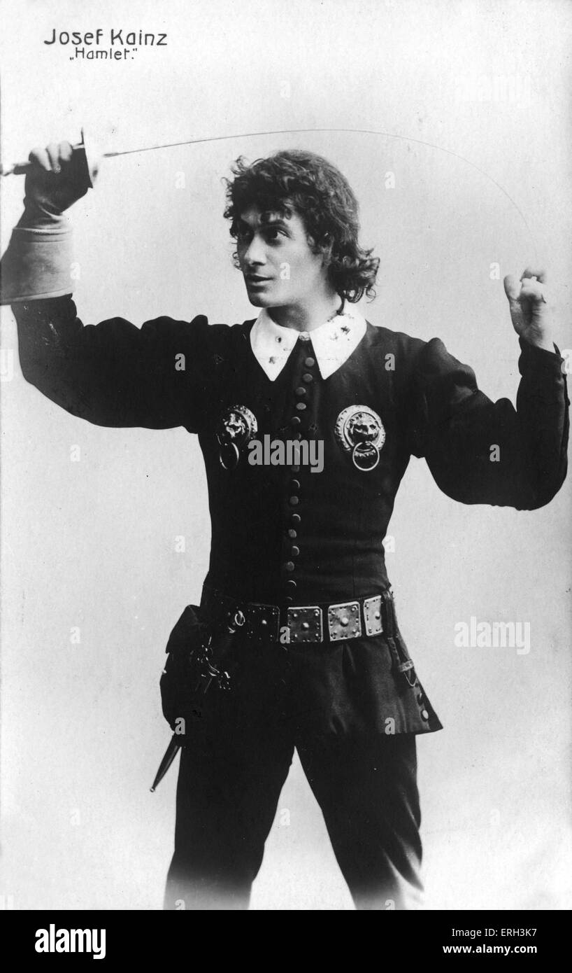 Josef Kainz in the role of Shakespeare 's Hamlet.  Austrian actor, 2 January 1858 - 20 September 1910. - Stock Image