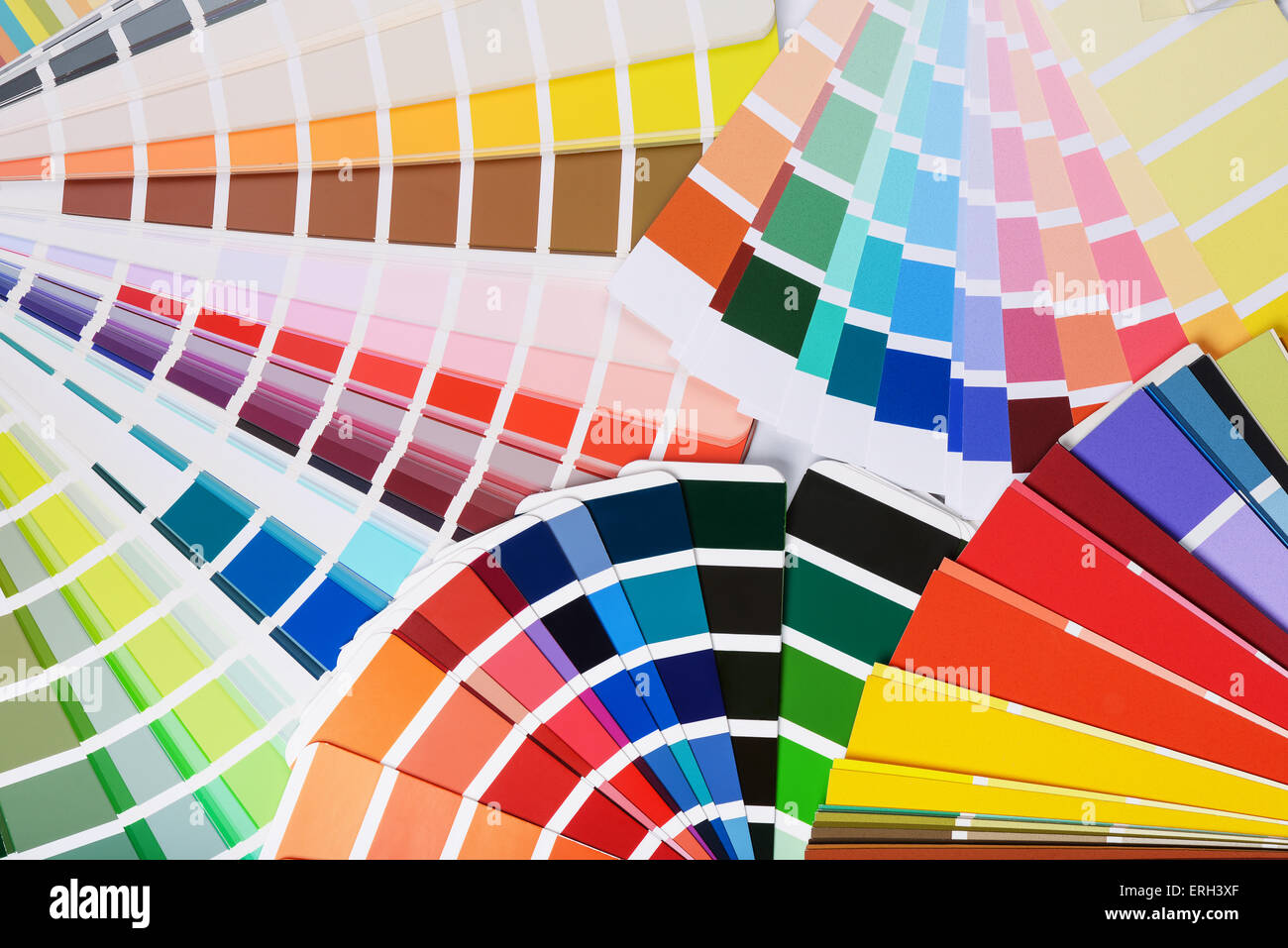 Many open color palette swatches - Stock Image