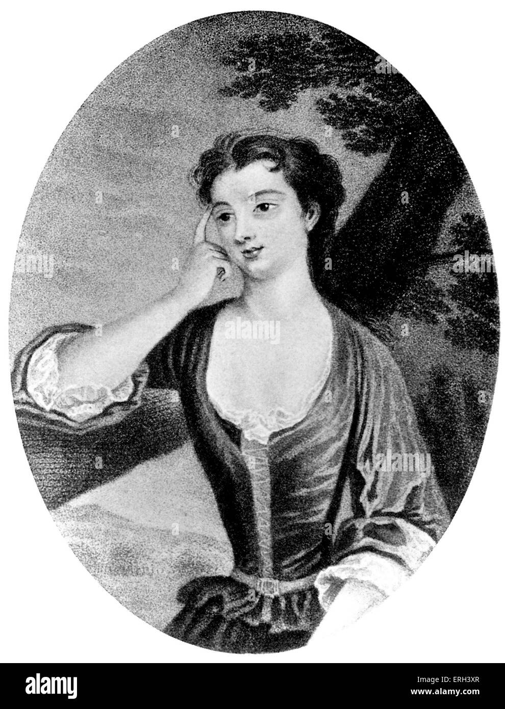 Lady Mary Wortley Montagu - portrait from 1710. After engraving by Caroline Watson. English writer and aristocrat, - Stock Image