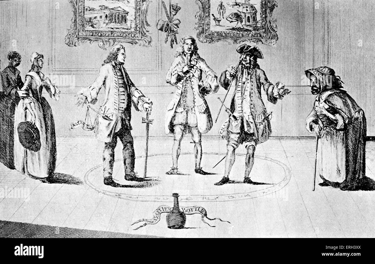 Henry Fielding defending Elizabeth Canning from her accusers, the Lord Mayor, Dr Hill and theGypsy.The Conjurors - Stock Image