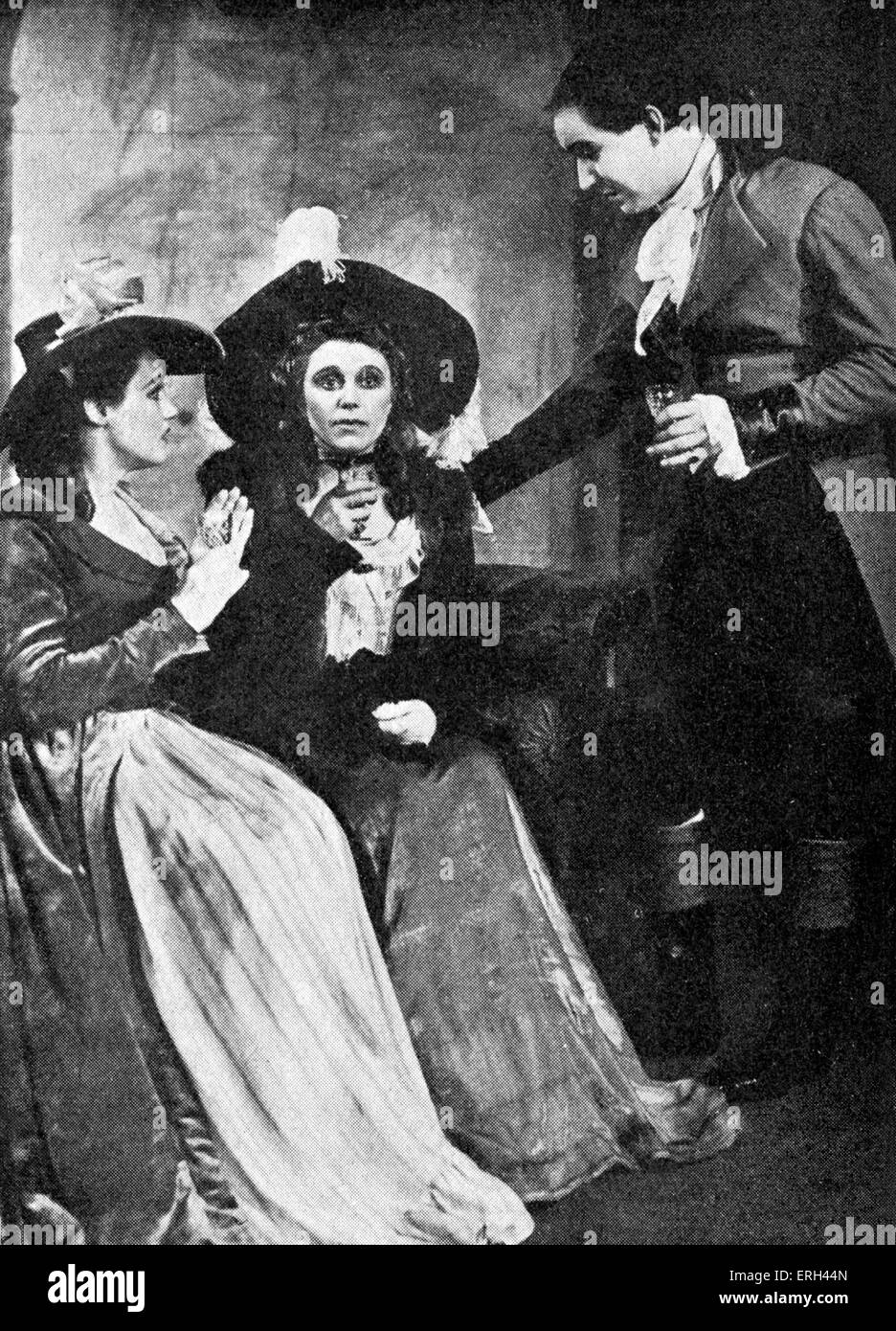 'The Good Natured Man' by Oliver Goldsmith, with Constance Cummings, Marie Ney and Manning Whiley at the - Stock Image