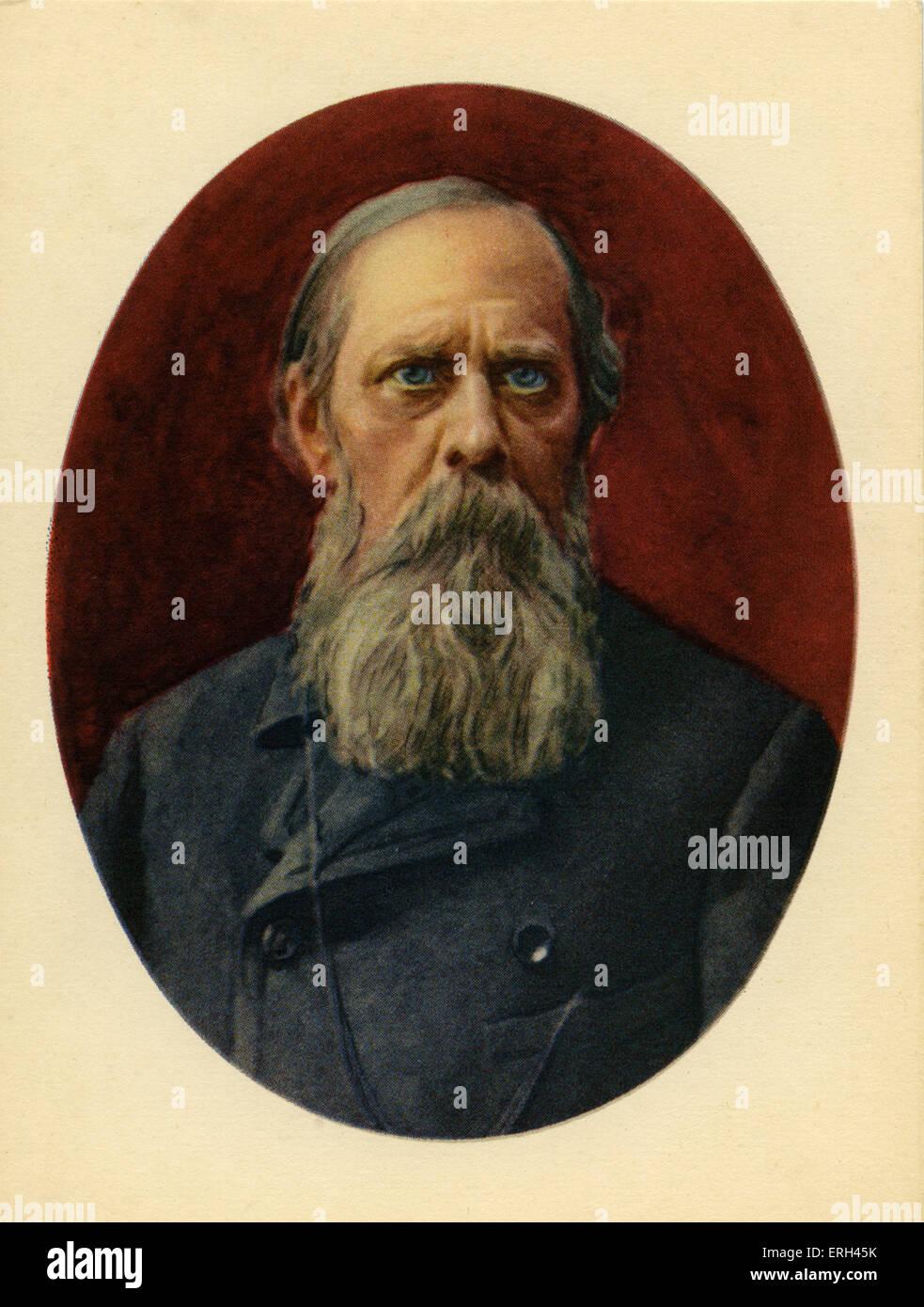 Schredin (Mikhail Saltykov-Schredin), Russian writer and satirist, 27 January 1826 - 10 May 1889. - Stock Image