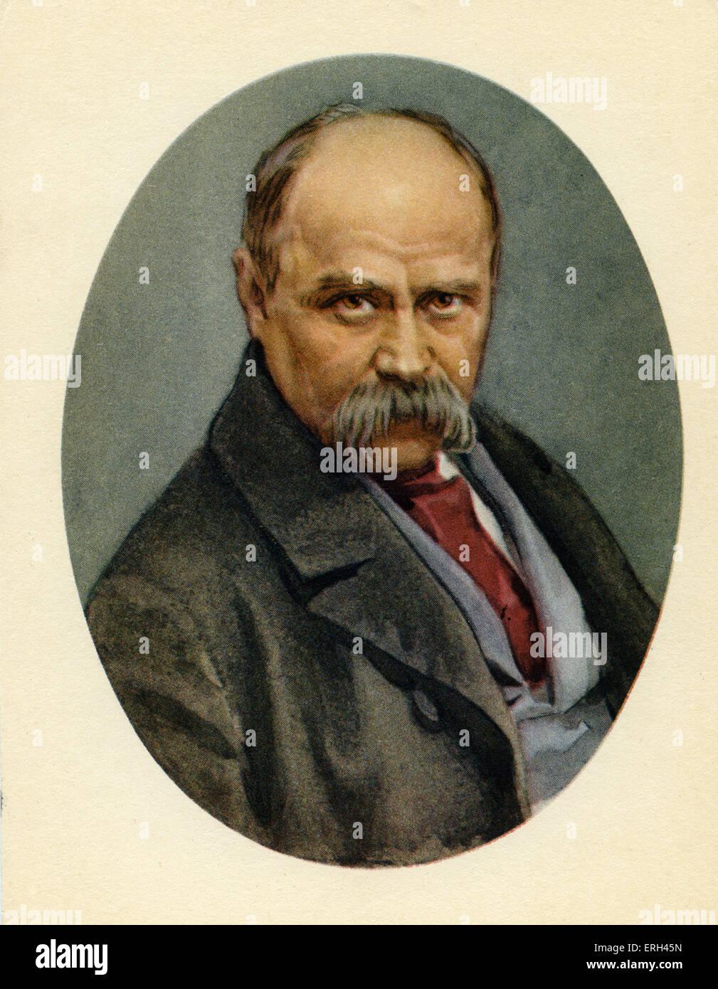 Taras Shevchenko, Ukrainian poet and artist, 9 March 1814 - 10 March 1861. - Stock Image