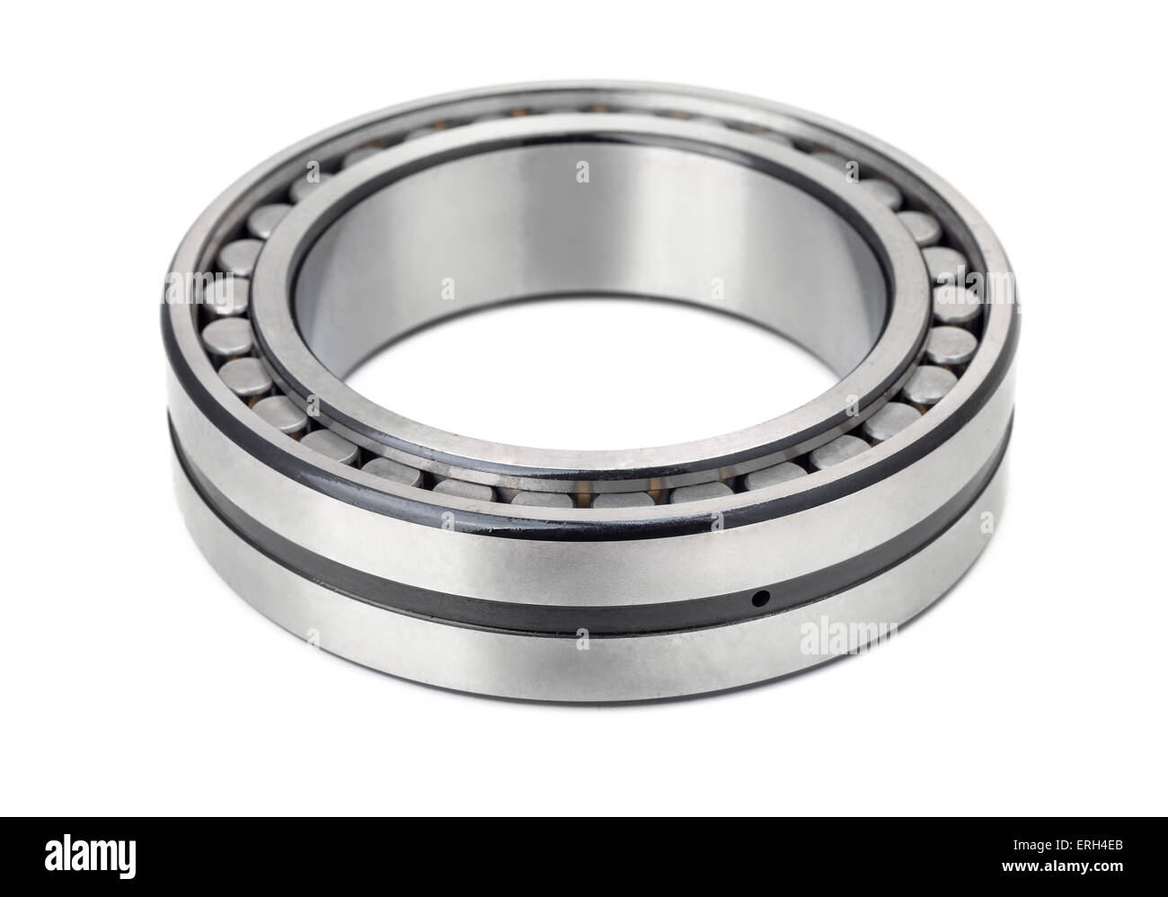 Roller bearing isolated on white - Stock Image