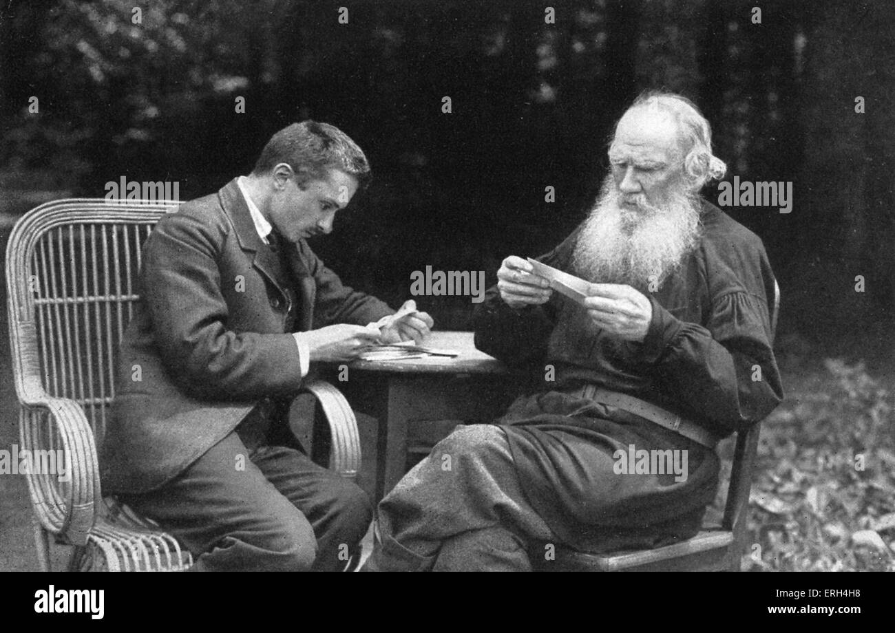 Mikhail Bulgakov, and Leo Tolstoy in 1910.  Photo by V Schertkov. Russian playwright and noveilst, 15 May 1891 – - Stock Image
