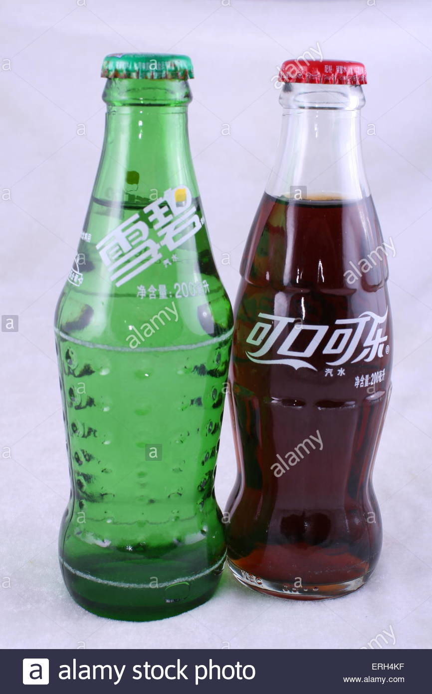 Sprite and coca-cola - Stock Image