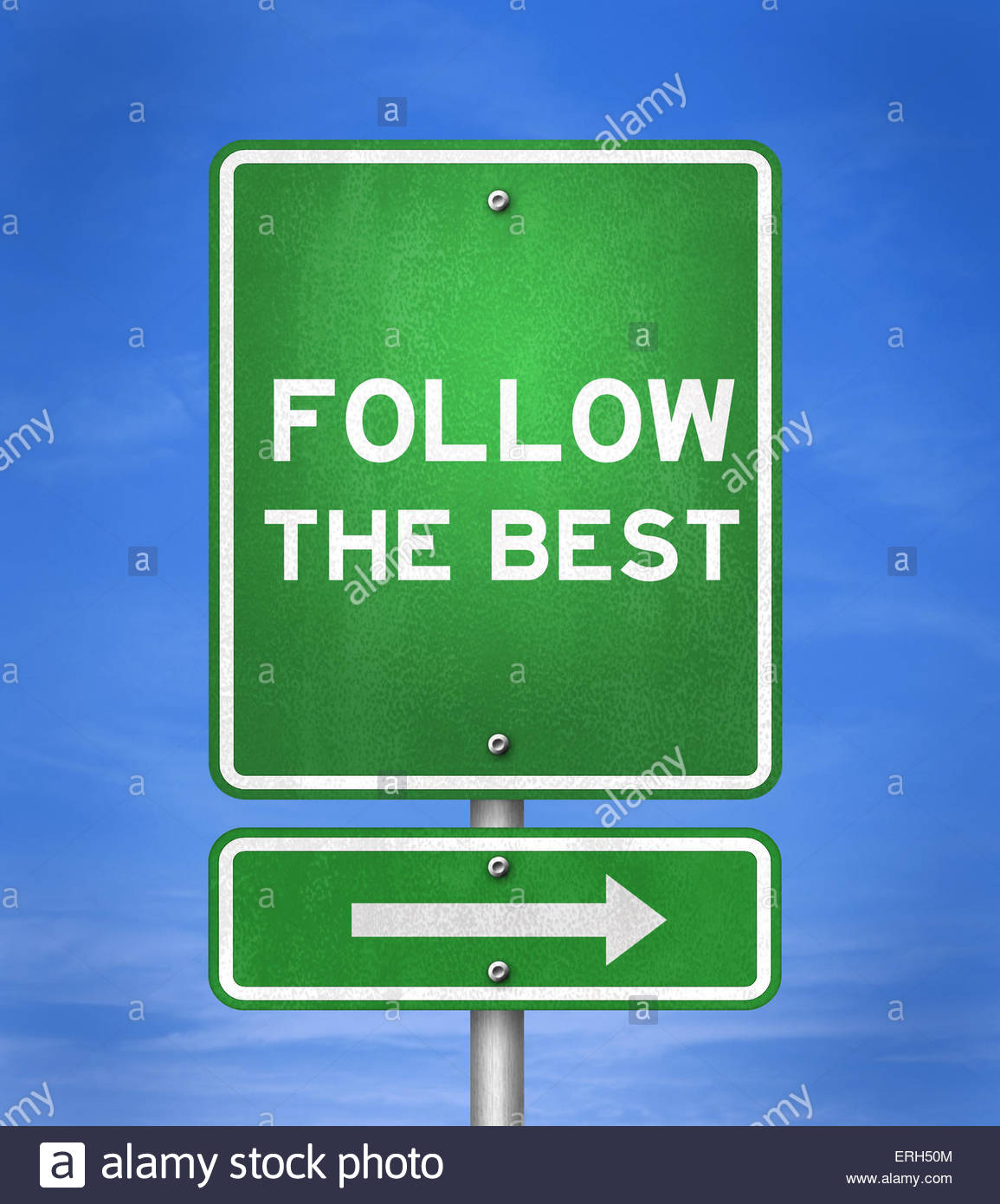 Follow the best - Stock Image