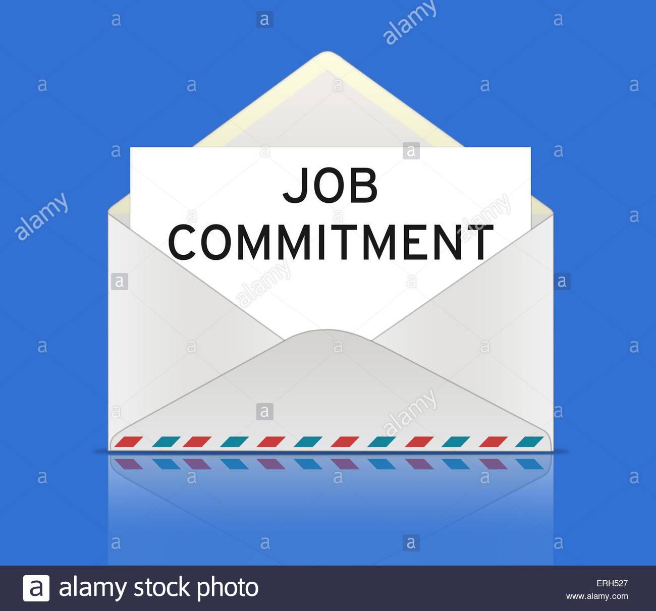 Job Commitment - Stock Image