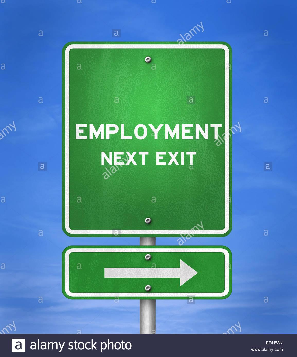 Employment - Next Exit - Stock Image