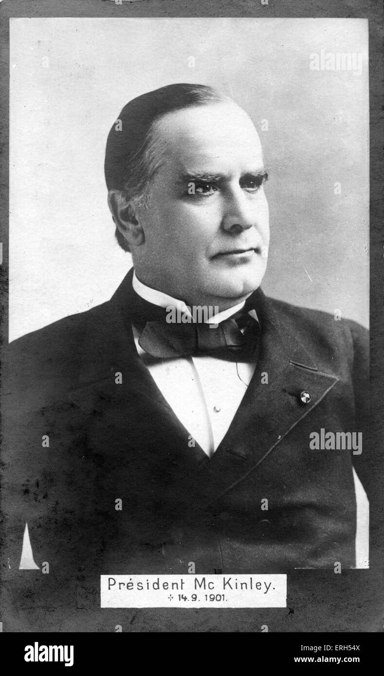 President William McKinley, (1843-1901) 25th President of the United States, (In office March 1897–September 1901) - Stock Image