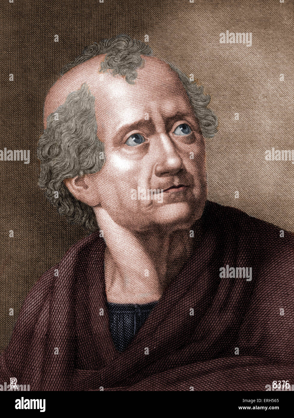 KLOPSTOCK, Friedrich German poet, 1724-1803 - wrote text with Mahler for M's Resurrection in 2nd symphony. Colourised - Stock Image