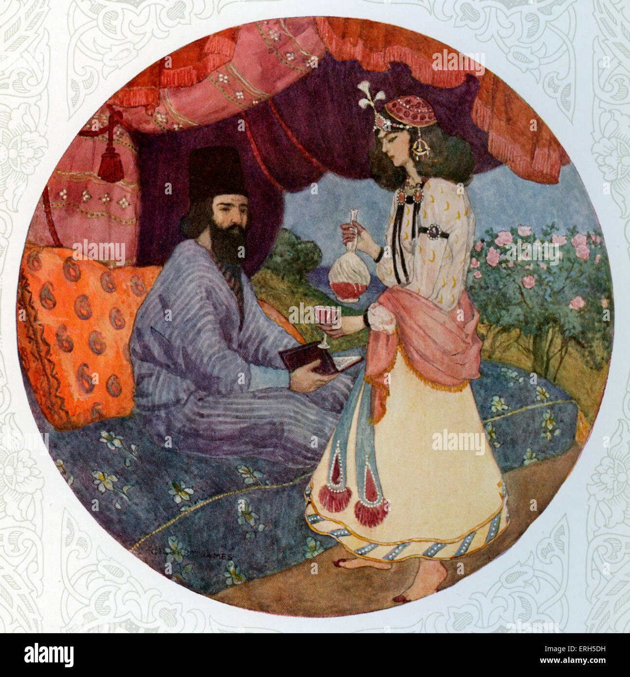 Rubaiyat of Omar Khayyam, translated  by Edward FitzGerald ( translation of a selection of poems, originally written - Stock Image