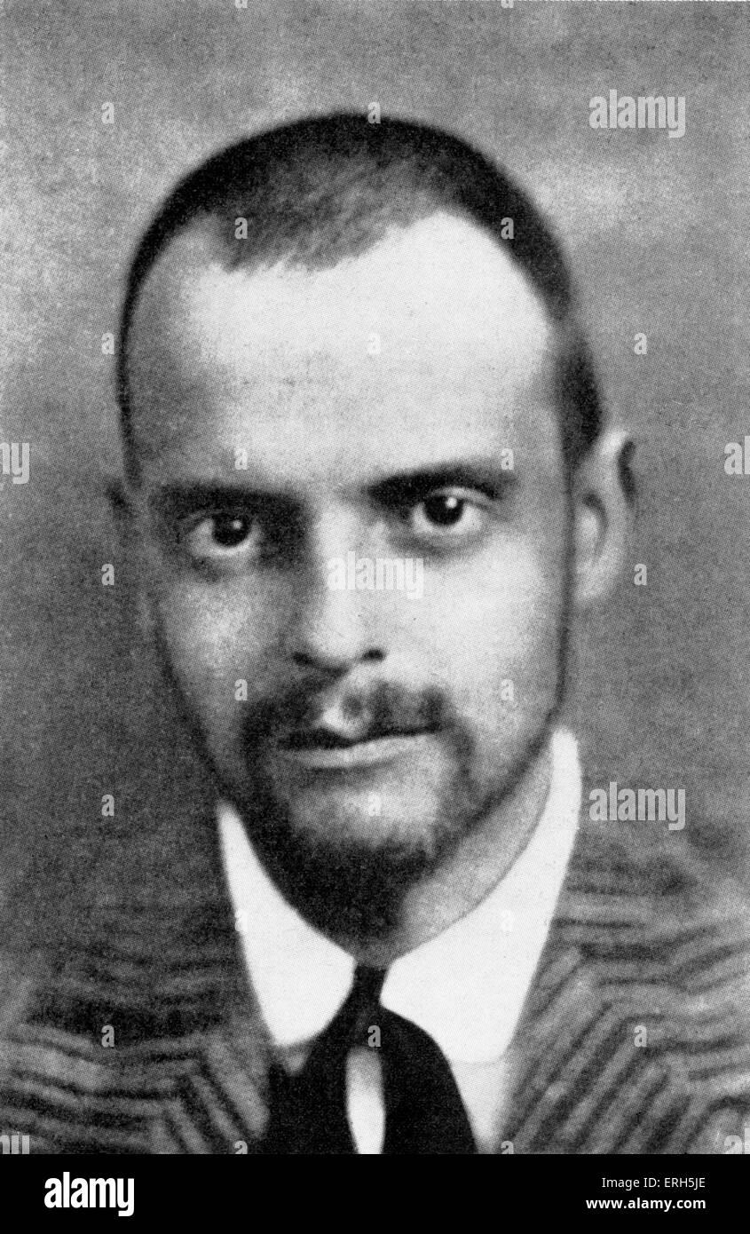 Paul Klee,  Swiss painter. 18 December 1879 – 29 June 1940. - Stock Image