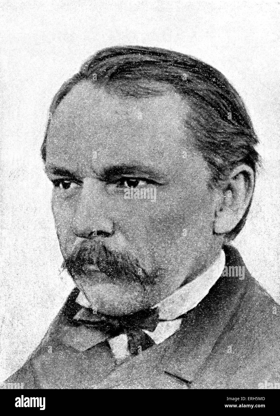 Philipp Wolf - Hugo Wolf 's father. Portrait. HW: Austrian composer, 13 March 1860 - 22 February 1903. - Stock Image