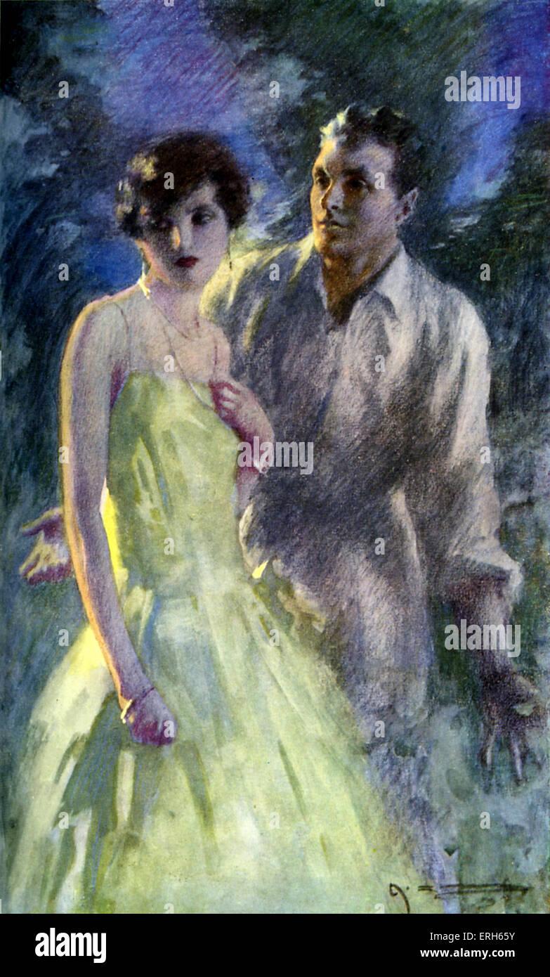 The Forsyte Saga by John Galsworthy . Caption reads. 'Fleur, I love you, Fleur!'. Artist A C Michael (no - Stock Image