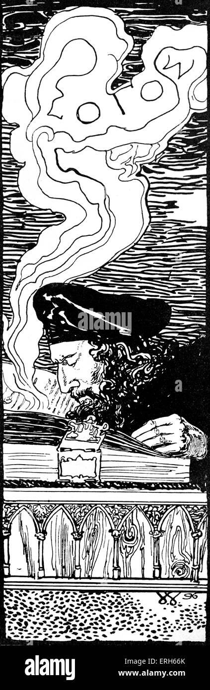 Faust - illustration by Sascha Schneider. - Stock Image
