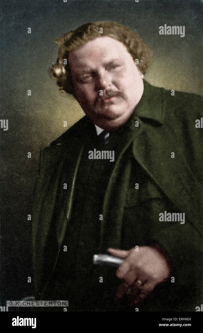 Gilbert Keith Chesterton - portrait of the English writer. 29 May 1874 - 14 June 1936. - Stock Image