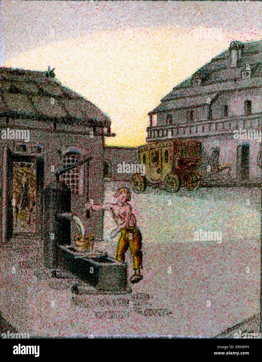 Die Glücksritter by Joseph von Eichendorff ('The Adventurers'). Novella, illustrated with lithograph - Stock Image