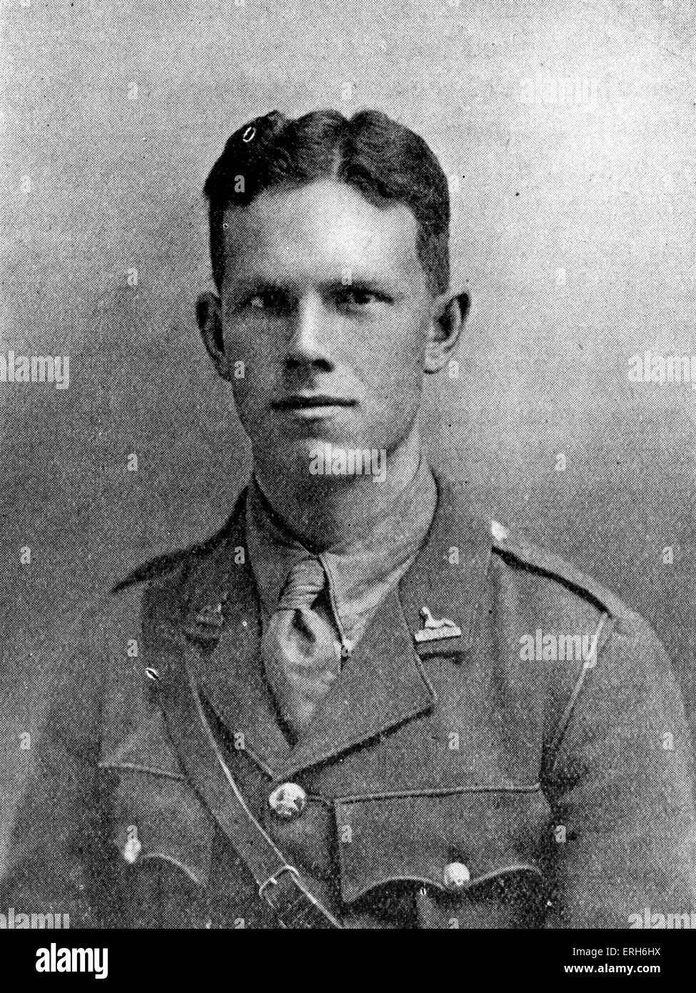 Alec Waugh - English novelist, fought during World War I in the Dorset Regiment as a 2nd lieutenant. Elder brother - Stock Image