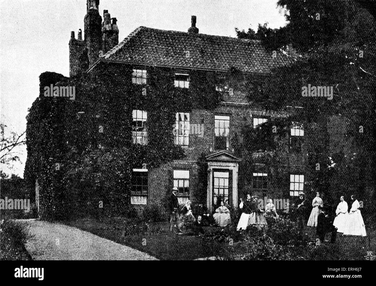Croft Rectory - Lewis Carroll 's childhood home from 1843, when his father became Anglican parish minister of - Stock Image