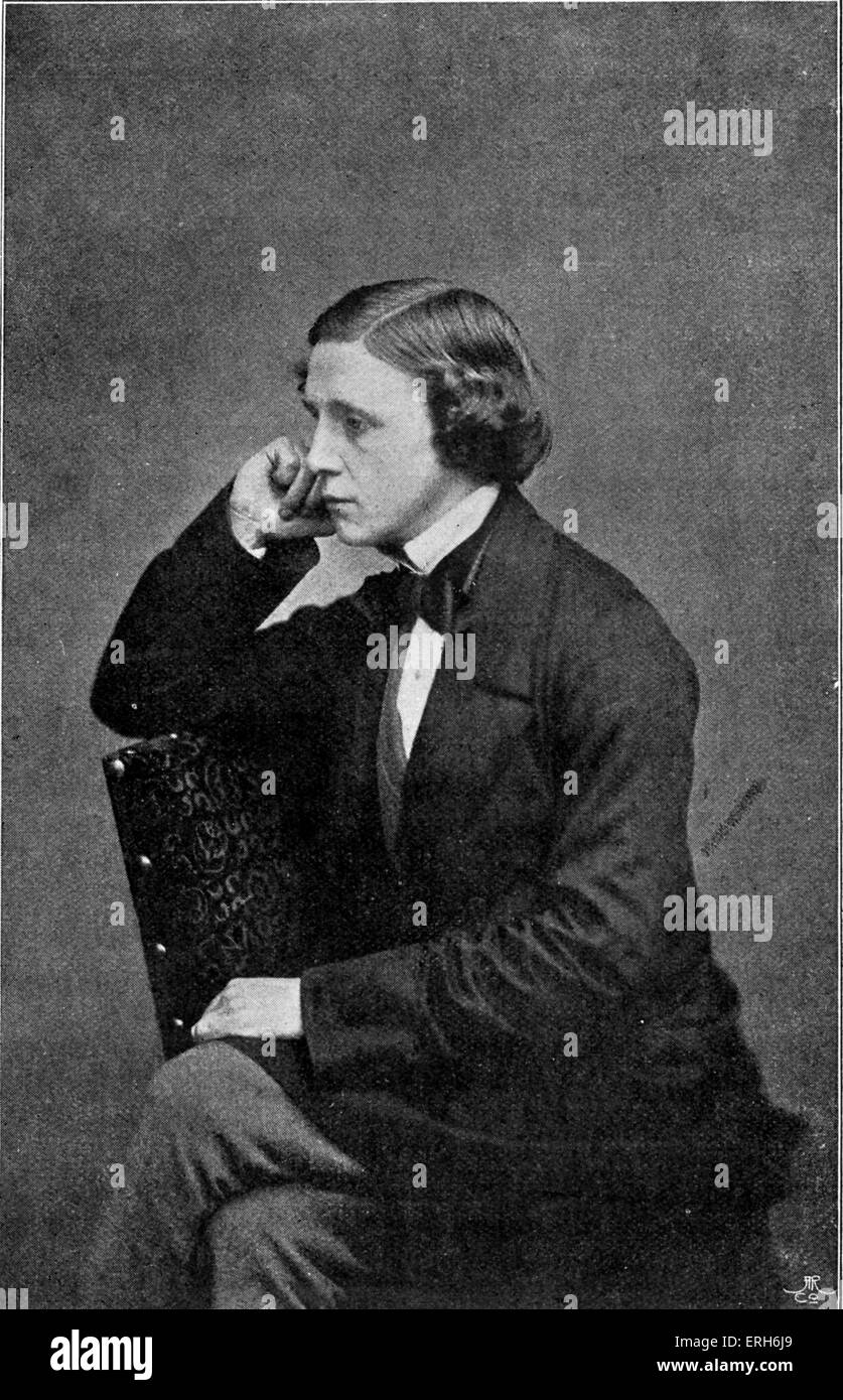Lewis Carroll - portrait aged 23. C. 1855.  (Real name Reverend Charles Lutwidge Dodgson) English author: 27 January - Stock Image