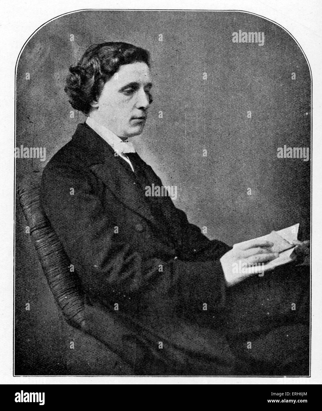 Lewis Carroll - portrait. (Real name Reverend Charles Lutwidge Dodgson) English author: 27 January 1832 - 14 January - Stock Image
