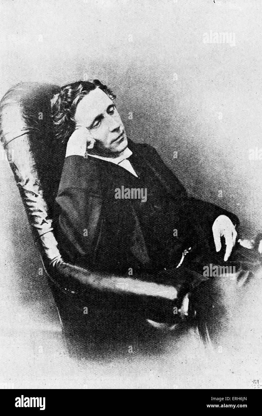 Lewis Carroll - portrait. (Real name Reverend Charles Lutwidge Dodgson) English author: 27 January 1832 - 14 January - Stock Image