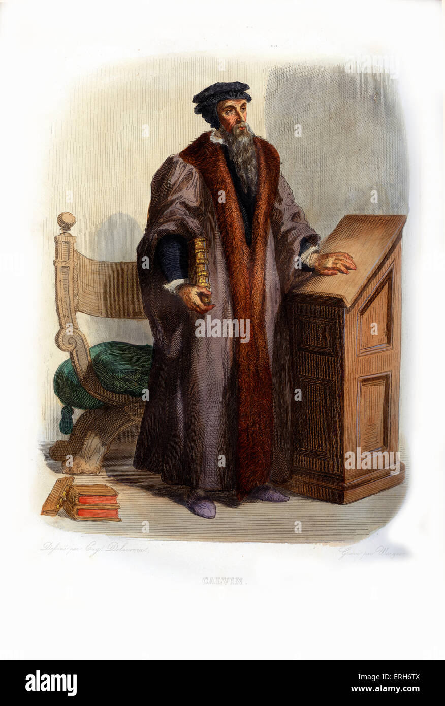 John Calvin (French: Jean Calvin). Influential French theologian and pastor during the Protestant Reformation and - Stock Image