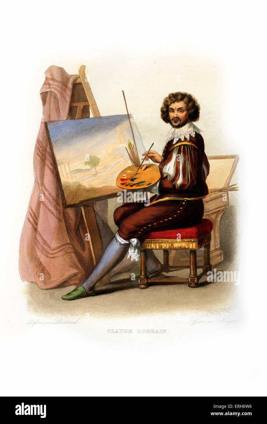 Claude Lorrain (Claude Gellée by his real name). French Baroque artist, specialised in landscape painting; - Stock Image