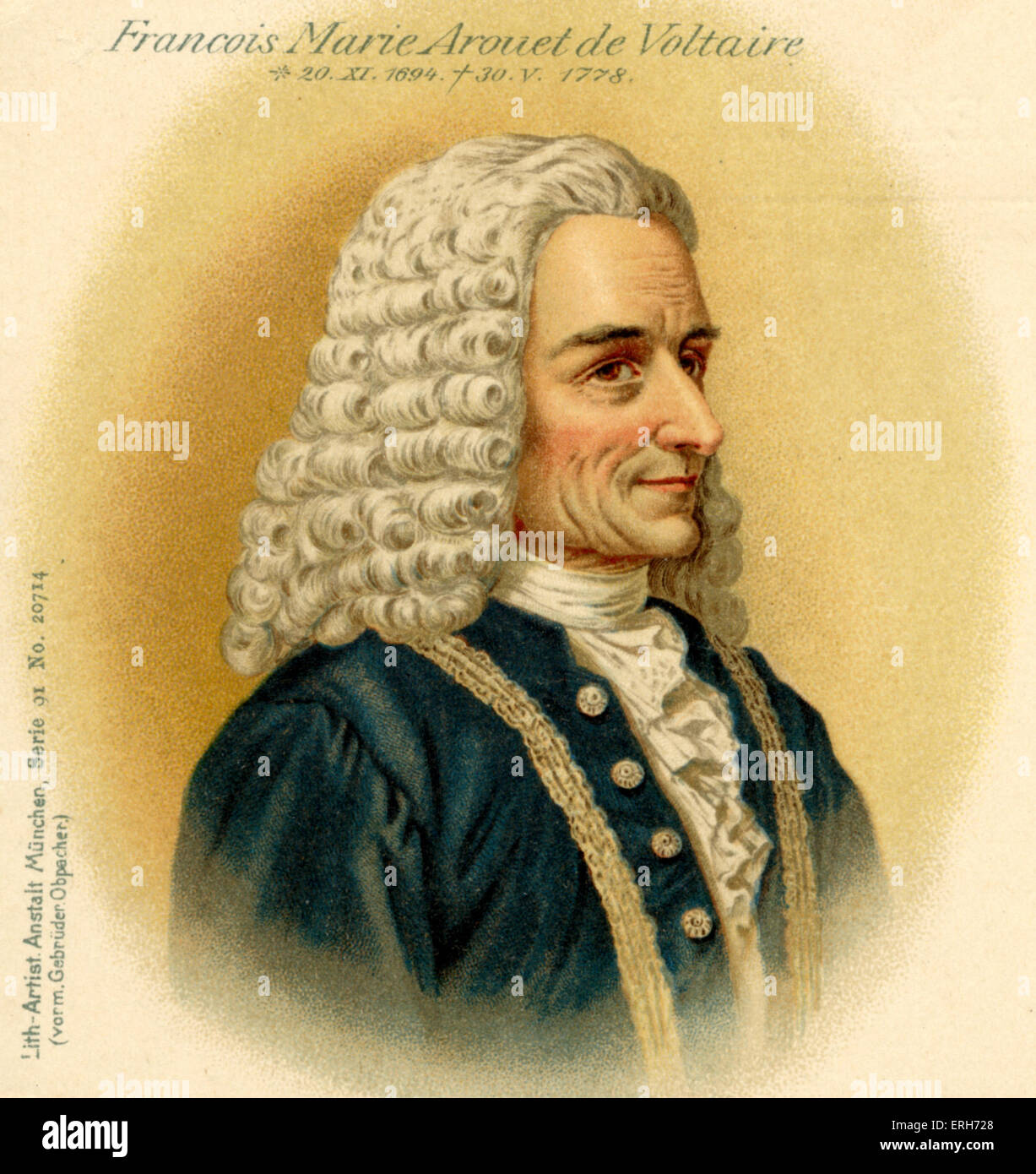an analysis of the topic of francois marie arouet de voltaire Francois marie arouet (voltaire) was born on november 21, 1694 he was not expected to live through childhood in 1726, voltaire insulted a powerful young nobleman, chevalie de rohan, and voltaire left a big impact in society he questions and philosophies challenged great figures of the time.