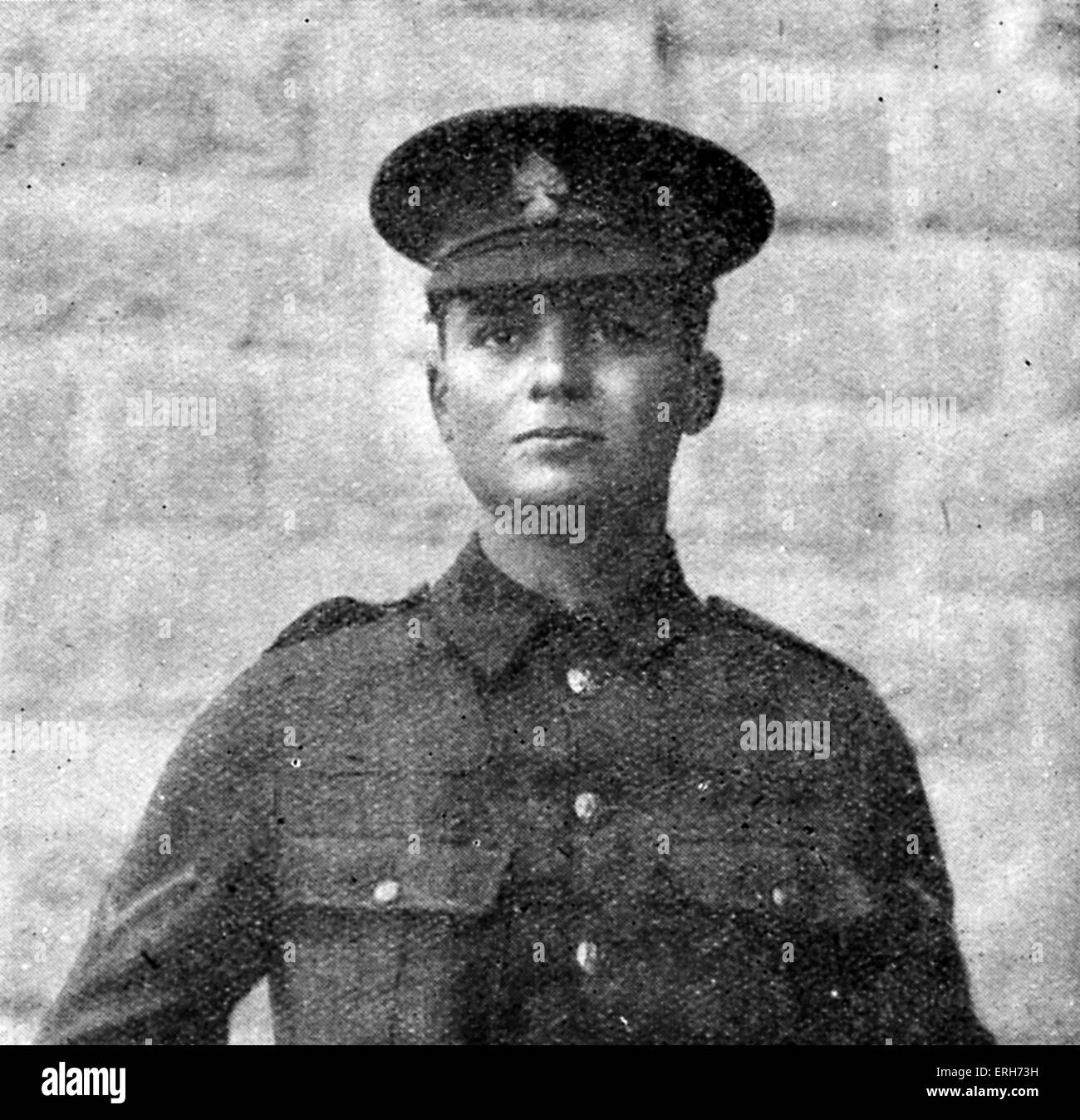 Leslie Coulson - War Poet. English journalist and soldier during World War I. 1889 – 8 October 1916. - Stock Image