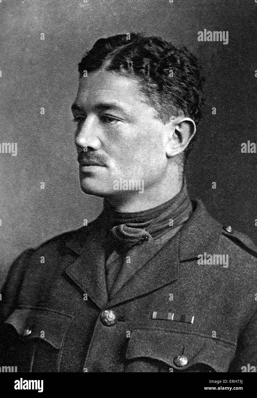 Julian Grenfell - portrait. British soldier (Captain of Royal Dragoons) and poet of World War I. Son of William - Stock Image