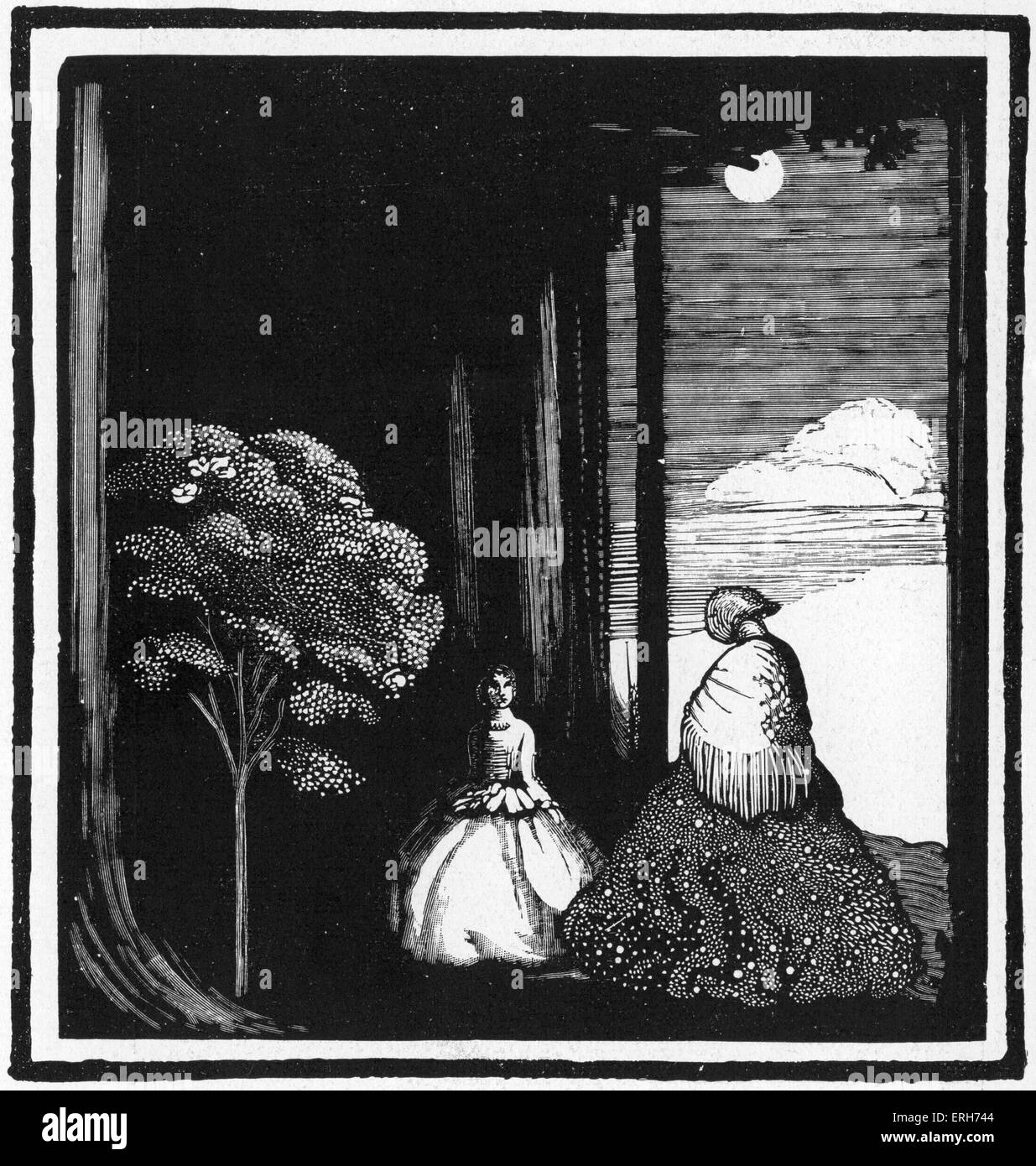 Der Weisse Fächer , design for play by Hugo Hofmannsthal by Edward Gordon Craig (1872-1966). Published by Insel - Stock Image