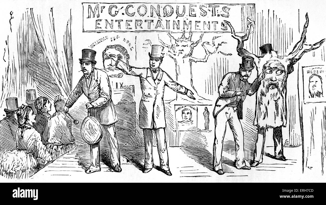 Mr Conquest's Bartholomew Fair Entertainment at the Dramatic College Fête, Alexandra Palace, London 1875. - Stock Image